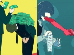 「让我看见你的态度」都是无形的钱在压!绘师用动漫风格画出你我生活周遭的黑暗故事!