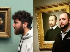 逛美术馆却遇见神似自己的肖像画 网友:难道真的是前前前世?