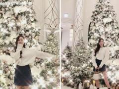 台湾太美!洁西卡《最新穿搭》圣诞节分享台湾圣诞树!