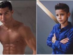 愿意等他 10 年!C 罗父子档拍摄自创品「CR7」形象照 7 岁大儿子露腹肌、帅度超越老爸!